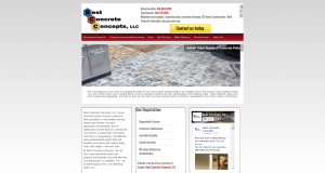 WordPress Site custom Concrete contractor