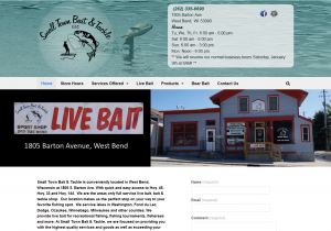 WordPress site Bait shop
