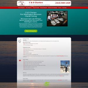 fishing charter website on WordPress