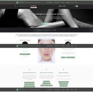 Medical spa website on Wordpress